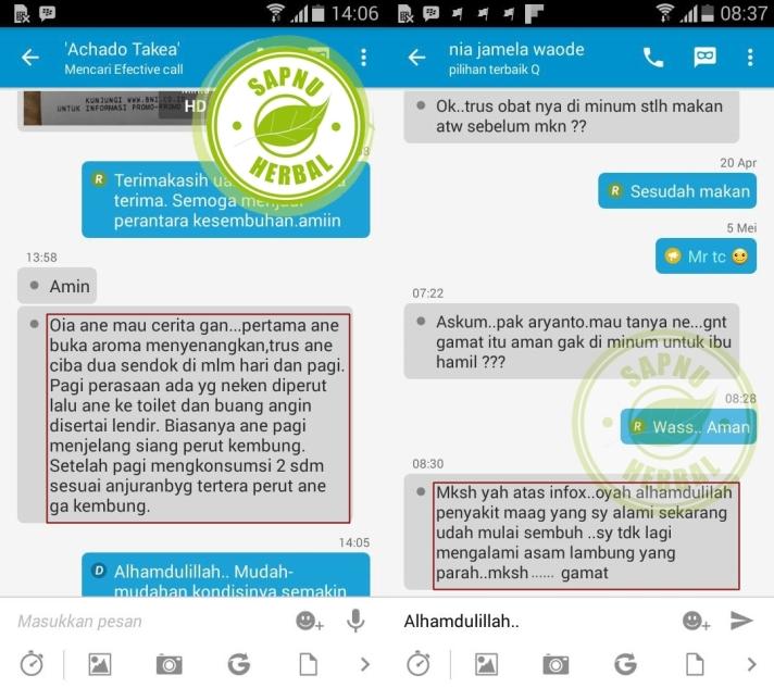 Testimoni QnC Jelly Gamat Perut Kembung & Maag